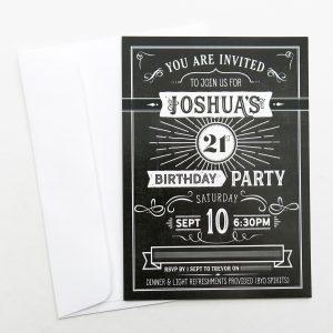 Josh's 21st Birthday invitation design