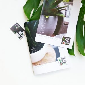 Just Add Plants Printed Product Catalogue, Price List and Business Cards