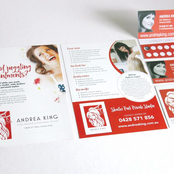 Andrea King Flyer and Business Card Design